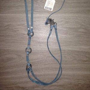 Free People Accessories - Free People Seaside Leather Harness Vest Blue